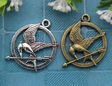 10pcs Antique Silver/Bronze Lovely bird Jewelry Finding Charms Pendant 30x25mm