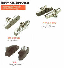 ROAD BIKE CYCLE  BRAKE SHOES PADS, TOP QUALITY, CARTRIDGE. cnc etc 3 types !