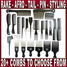 HAIR COMB Afro Tail Teasing Tint Barber wide teeth setting professional styling