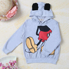 2015 Baby Girls Boys Kids 3D Mickey Ear Tail Costume Tops Hoodies Outfits Set