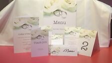 Personalised Printed Wedding Stationery - Invitations Cards Table Numbers & More
