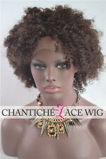 Afro Kinky Curly Wig Short Brazilian Human Hair Lace Front Wigs For Black Women
