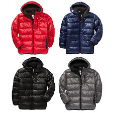 NWT Old Navy Boy's Hooded Frost Free Quilted Puffer Jacket Warm Cozy Winter Coat
