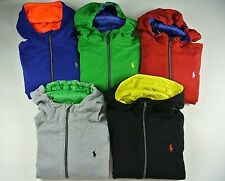 Polo Ralph Lauren Fleece Contrast Cookie Patch Hoodie Jacket SM MED LRG XL XXL