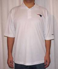 NWT Reebok New England Patriots NFL Men's Play Dry Polo Shirt - White