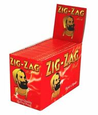1 5 10 25 50 100 ZIG ZAG RED REGULAR SMOKING GENUINE CIGARETTE ROLLING PAPERS