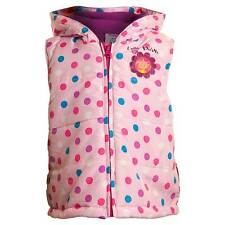 Toddler Girls In The Night Garden Upsy Daisy Padded Gilet Bodywarmer Pink Spot