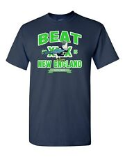 Beat New England Seattle Football Fan Wear Game Sports DT Adult T-Shirt Tee
