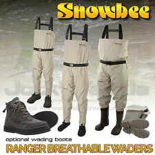 Snowbee Ranger Breathable Stockingfoot Chest Waders & Outfits! Optional Boots
