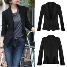 New Fashion Women's One Button Slim Casual Business Blazer Suit Jacket Coat HG