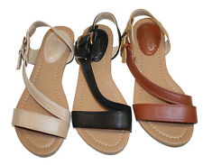 Womens Summer Gladiator Sandals Flats FashionThongs T Straps Ladies Shoes #1890