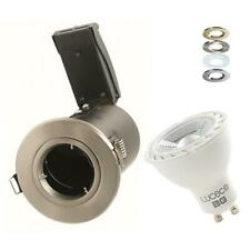 10 X LED RECESSED CEILING SPOTLIGHT FIRE RATED LED DOWNLIGHT GU10 5W 7W DIMMABLE