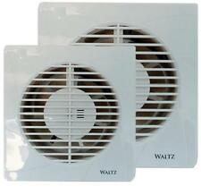 "White 4"" 100mm - 6"" 150mm Extractor Fan Standard / Timer Bathroom Wall / Ceiling"