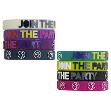 Zumba Fitness ~ JOY RUBBER BRACELETS ~ 8 Clrs 8 pk NEW NWT