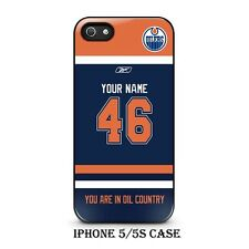 Custom Edmonton Oilers Hockey With Your Name & Numbers On Iphone Case