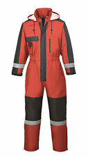 THERMAL LINED WATERPROOF HI VIS COVERALL,OVERALLS, ANGLING, FARM,MOTORBIKE SUIT