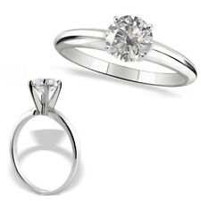 0.5 Carat G-H SI3-I1 Round Diamond 14K White Gold Solitaire Engagement Ring