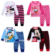 2pcs Cotton Baby Boy Girl Kids Children Top+Pants Pajamas Sets Clothes 1-6 Years