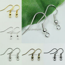 Wholesale 18mm 300pcs/500pcs Earring Hooks Coil Ear Wires Jewelry Findings