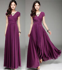 Women Ladies Full Skirt Long Maxi Formal evening Cocktail Party Plus Size Dress
