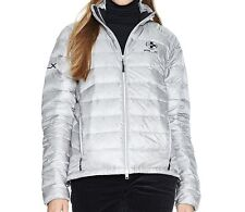 POLO RALPH LAUREN $225 Explorer RLX Lg Silver Quilted Down Jacket Coat Packable