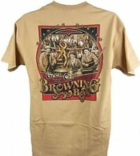 Mens NWT Browning Good Old Boys Buckmark Classic T-Shirt Old Gold Sz M L XL 2XL
