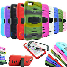 """Hybrid Stand Soft silicone rubber Hard Case Cover For Apple iphone 6 Plus 5.5"""""""