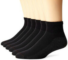 12 Pairs New Mens BLACK Ankle Crew Socks Pair Low Cut Size 9-11 10-13