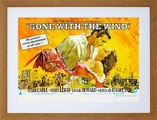 MOVIE FILM GONE WITH WIND LEIGH GABLE DRAMA ROMANCE CLASSIC FRAMED ART F97X541