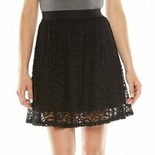 LC LAUREN CONRAD BLACK LACE SKIRT SIZE SIZE SMALL;NWT