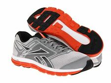 Reebok Mens Dual Turbo Flier Running Shoes Grey Orange White New All Sizes