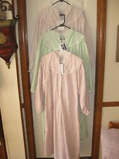 LANZ of SALZBURG 100% Cotton Flannel Full-Length NIGHTGOWN Size S M L XL