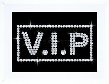 VIP DIAMONDS BLING VAJAZZLE SIGN PHOTO  GIFT FRAME ART PRINT PICTURE F97X1825