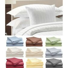 """Egyptian Comfort 1800 Count 4 Piece Striped Sheet Set  Fits Mattress Up To 15"""""""