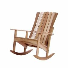 Clear Western Red Cedar Athena Rocker Chair Outdoor Handcrafted Furniture --NEW!
