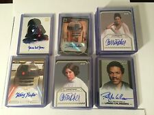 Topps Star Wars: Authentic Autographs Auto YOU PICK! Complete Your Sets! 2006-14