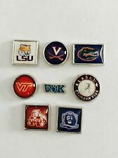 College Team Floating Charm fits any glass Living Memory Locket FREE Owl *
