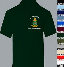 40 COMMANDO ROYAL MARINES COMMANDO SHORT LONG SLEEVE POLO SHIRT TO 5XL