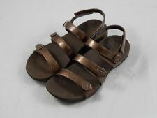 Vionic by Orthaheel Cathy Triple Strap Bronze SandalsPREOWNED