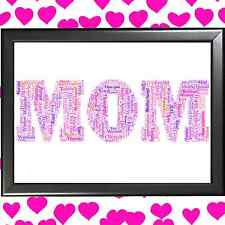 FAMILY WORD ART CLOUD ? PERSONALISED ? MOTHER'S DAY? FOR MOTHER ?