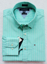 NWT TOMMY HILFIGER MEN'S CUSTOM FIT LONG SLEEVE STRIPED SHIRT