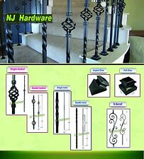 Hollowed Iron Balusters - Stair parts - Twist - Basket - Shoe - Scroll
