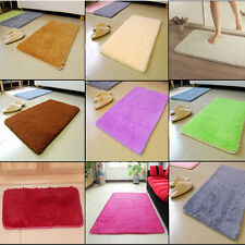 Wool Rug Anti-skid Carpet Dining Bedroom Shaggy Doormat Absorbent Washable