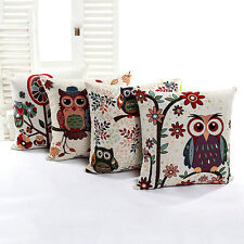 Soft Luxury Owl Throw Pillow Cushion Case Cover Home Car Sofa Bed Decor
