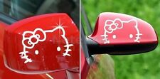 F8A 2X Hello Kitty Face Car Motor Truck Auto Rear View Logo Mirror Decal Sticker