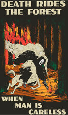 Death Rides the Forest T-Shirt Forest Service Fire wildfire