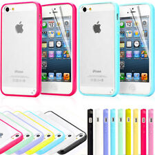 Clear Back Silicone TPU Bumper Case Cover For iPhone 6 FREE Screen Protector
