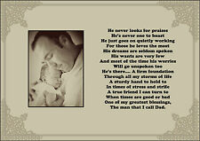 new dad / daddy  mum / mummy poem gift mothers / fathers day gift