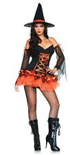 Adult Women's Sexy Hocus Pocus Hottie Witch CosplayHalloween Costume Fancy Dress