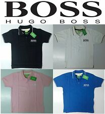 Hugo Boss Mens 2015 Spring Summer Polo Collar Cotton Tee T-Shirt. Size S M L XL